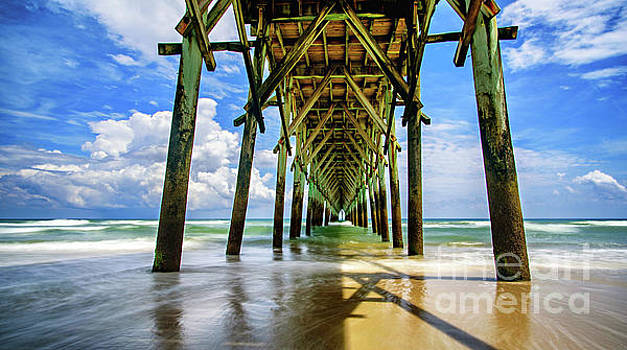 Under Surf City Pier by DJA Images