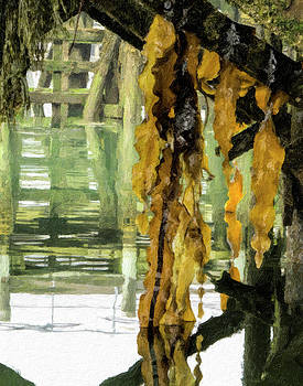 Under the Dock , Impasto by James Ekstrom