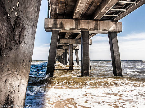 Under the pier  by Kim Loftis