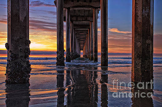 Under the Scripps Pier by Sam Antonio Photography
