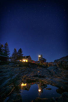 Under the Stars at Pemaquid Point by Rick Berk