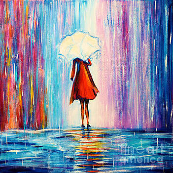 Under The Umbrella by Art by Danielle