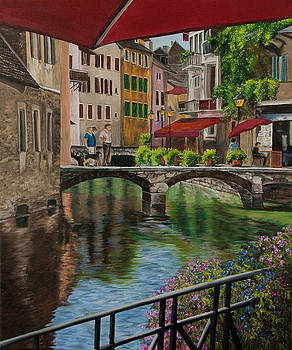 Charlotte Blanchard - Under the Umbrella in Annecy