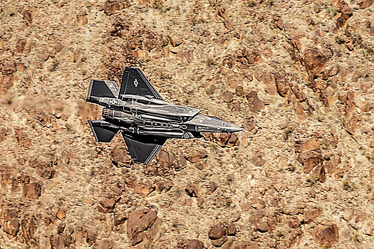 Underbelly Of A F35 Lightning In Star Wars Canyon by Bill Gallagher