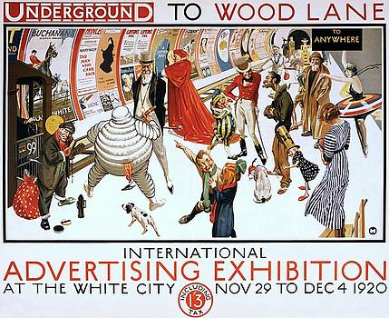 Underground to Wood Lane to anywhere, 1920 by Vintage Printery