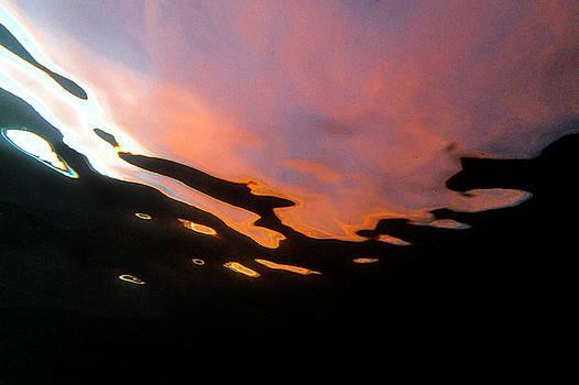 Underwater sunset by David Benson