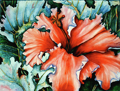 Unfolding Hibiscus by Mary Silvia