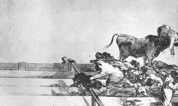 Unfortunate Events In The Front Seats Of The Ring Of Madrid 1816 by Goya Francisco