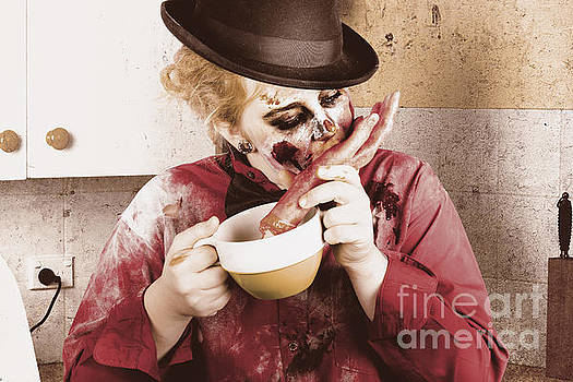 Unhealthy zombie eating finger food by Jorgo Photography - Wall Art Gallery