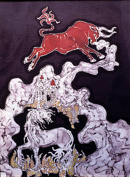 Unicorn and Red Bull by Carol  Law Conklin