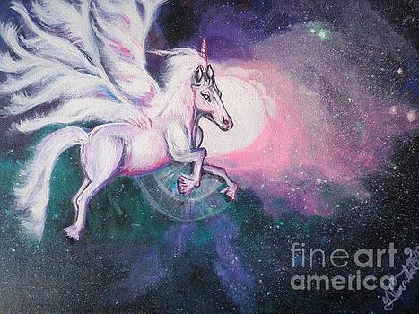 Unicorn and The Universe by Artist Nandika  Dutt