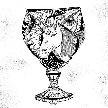 Unicorn Goblet by Kenal Louis