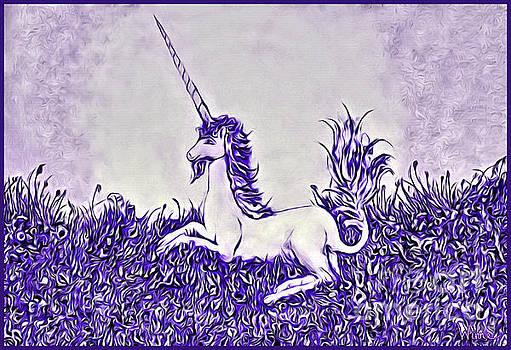 Unicorn in Purple by Lise Winne