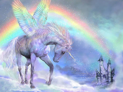 Unicorn Of The Rainbow by Carol Cavalaris