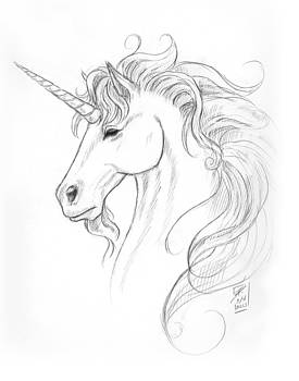 Unicorn Portrait by Brandy Woods
