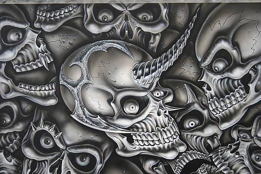 Unicorn Skull by Terry Stephens