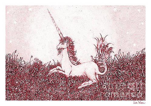 Unicorn with Stars by Lise Winne