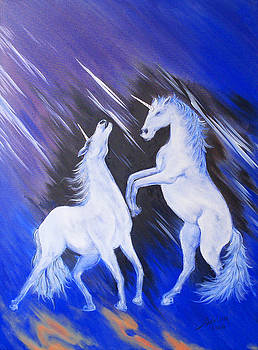 Unicorns play by Adrian Olteanu