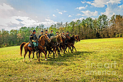 Union Cavalry at Battle of Namozine Church5062T by Doug Berry