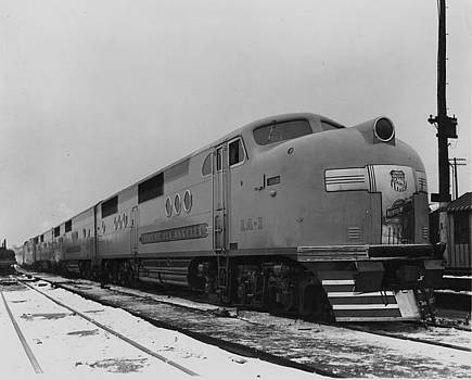 Chicago and North Western Historical Society - Union Pacific Diesel Locomotive Carrying Passengers