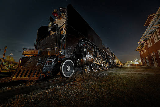 Art Whitton - Union Pacific Engine 844 at rest in Fairbury Nebraska at the Rock Island Depot