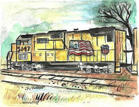 Union Pacific Engine by Matt Gaudian
