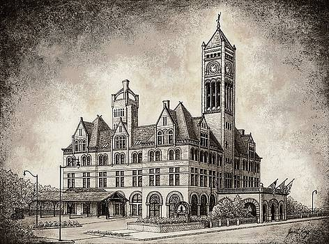 Union Station mixed media by Janet King