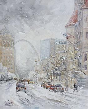 Union Station, St.Louis - Winter Storm by Irek Szelag