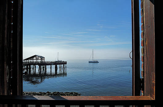 Union Wharf with Morning Fog by Seil Frary