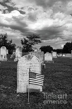 James Brunker - Uniontown Cemetery Maryland in Black and White