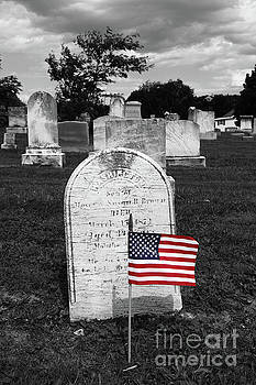 James Brunker - Uniontown Cemetery Maryland Selective Color