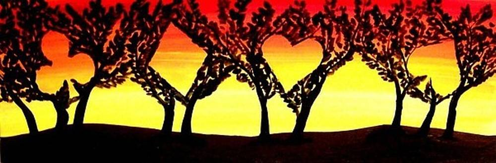 Unique Sunset Poker Suits Trees landscape - Sunset by Teo Alfonso