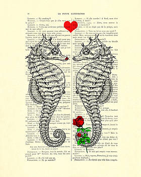 Unique Valentines Day Gift Ideas, Seahorses by Madame Memento