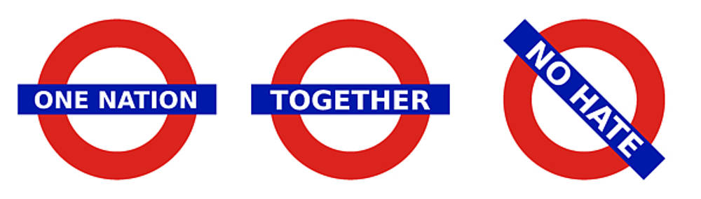 Richard Reeve - United Britain - One Nation Together No Hate triptych