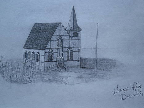 United Church  Change Islands Nfld. by Tonya Hoffe