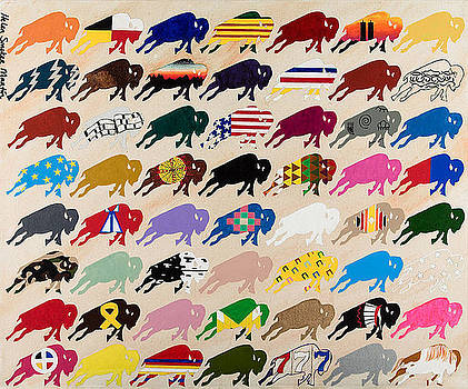 United Colours of Buffalo by Helen Smoker Martin