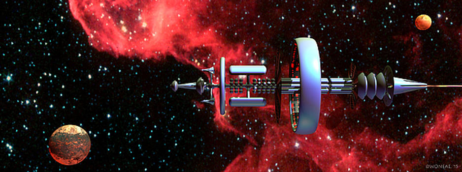 Walter Oliver Neal - United Earth Space Federation Star Ship Hawkins 2