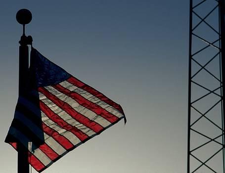 United States Flag by Mozelle Beigel Martin
