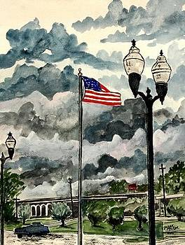 United States Flag over Alabama by Derek Mccrea