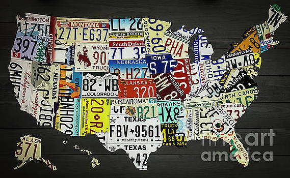 Dale Powell - License Plate Map of United States