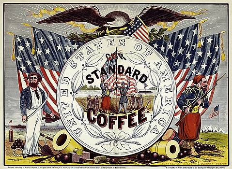 United States of Standard Coffee, advertising poster, 1862 by Vintage Printery