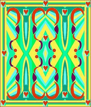 Diamond and Hearts Design 2 by Julia Woodman