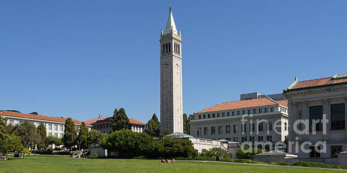Wingsdomain Art and Photography - University of California Berkeley Sather Tower The Campanile From The Doe Library DSC4700 long