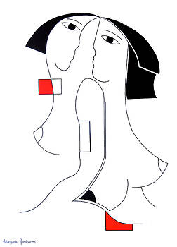 Univisie with red accent by Hildegarde Handsaeme