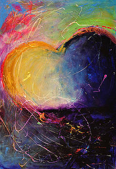 Unrestricted Heart Sunset Colors by Johane Amirault