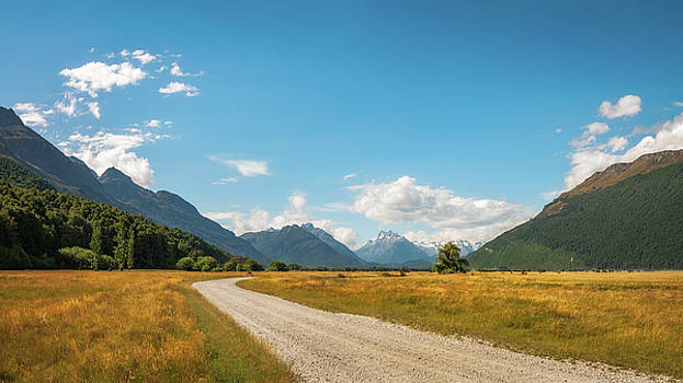 Unspoiled alpine scenery from Kinloch-Glenorchy road, NZ by Daniela Constantinescu