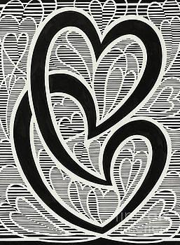 Untitled Hearts by Manuel Bennett