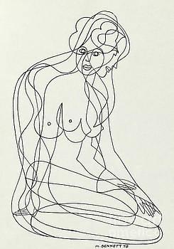 Untitled  Nude Seated Female Figure by Manuel Bennett