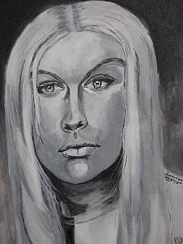 Untitled Portrait Of A Woman by Thomasina Marks