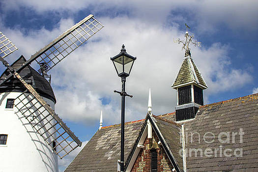 Unusual View of Windmill at Lytham St. Annes - England by Doc Braham